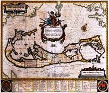 1633 map of Bermuda by Blaeu