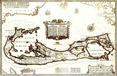 1676 map of Berrmuda by John Speed