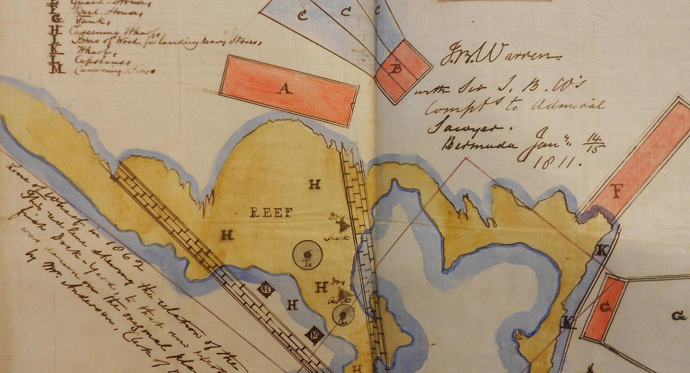 1811 map of planned new Dockyard