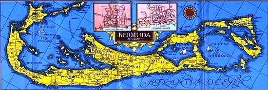1931 Bermuda Trade Development Board Visitors Map