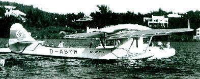 1936 German plane in Bermuda with swastika