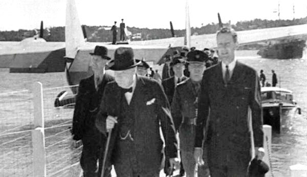 Churchill's 1942 arrival in Bermuda