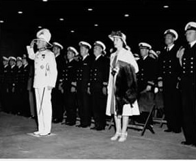 1944 April 6, Governor salutes US Navy