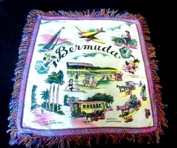 1948 Bermuda pillow cushion