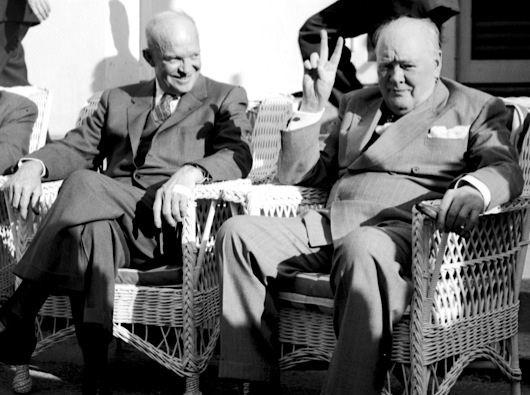 Eisenhowr and Churchill at Mid Ocean Club, Bermuda