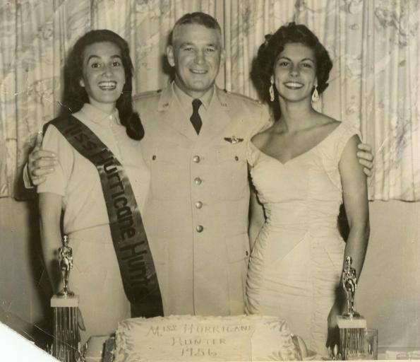 Miss Hurricane Hunter 1956 and Commanding Officer