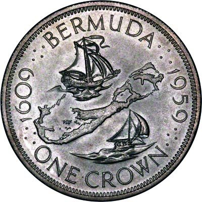 1959 Bermuda Crown coin