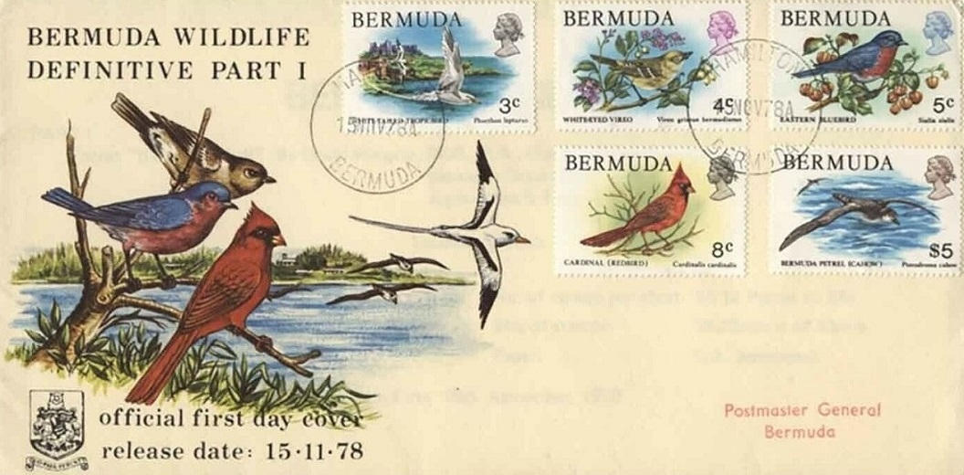 Bermuda Wildlife, Birds, postage stamp 1978