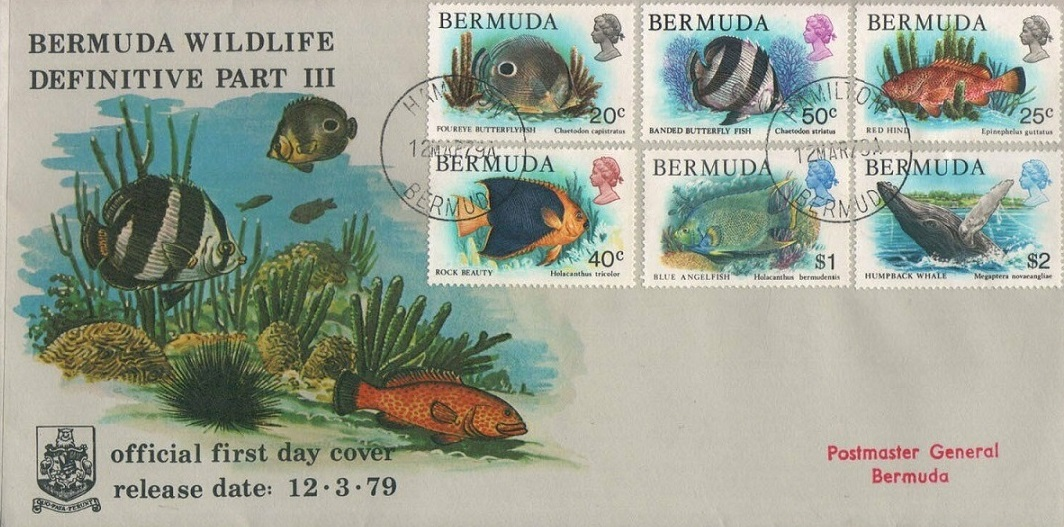 Bermuda March 3, 1979 stamps of fish