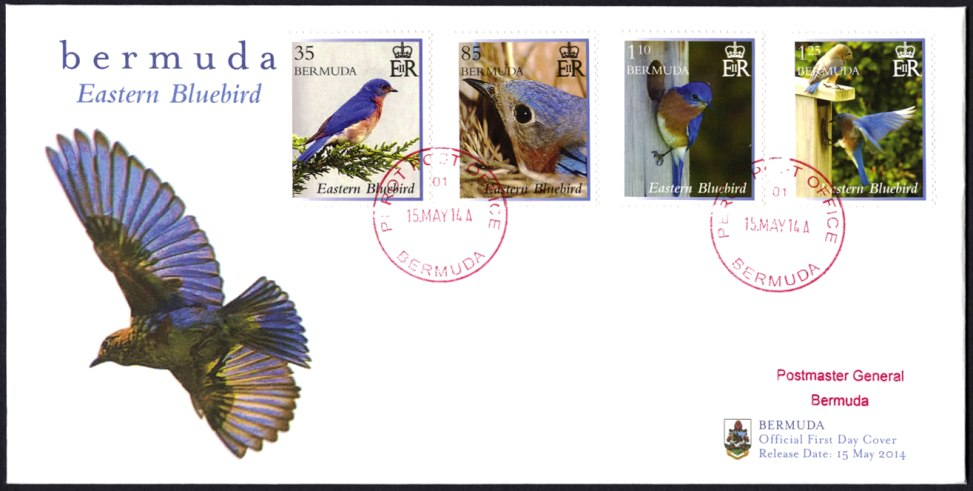 2014 May 15 Bermuda Bluebird stamps
