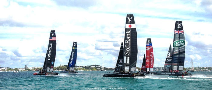 America's Cup challengers in Bermuda