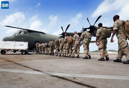 Bermuda Regiment Caribbean hurricane relief-bound