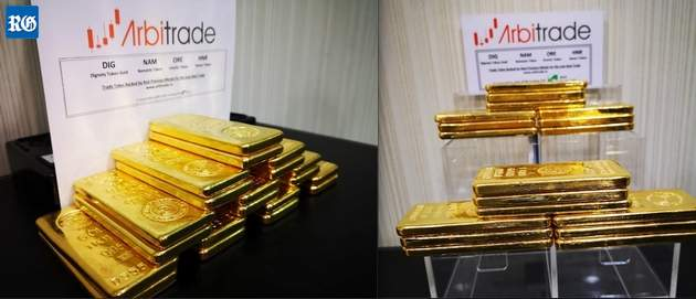 Arbitrade shows gold bars