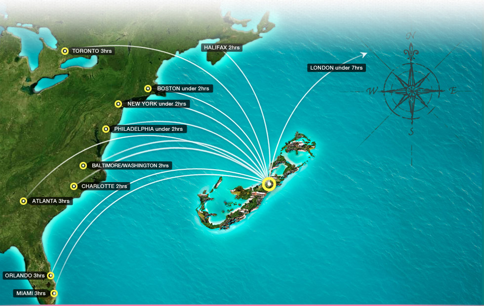 Scheduled airline routes to and from Bermuda