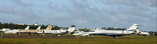 Airport private jets