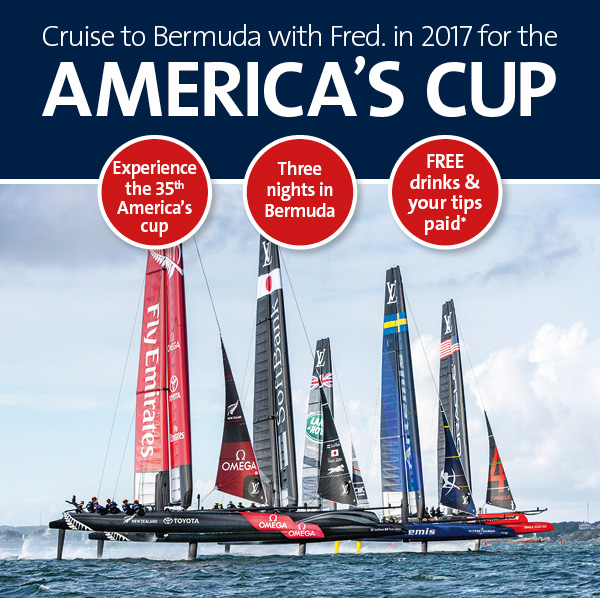 America's Cup Race cruise ship promotion