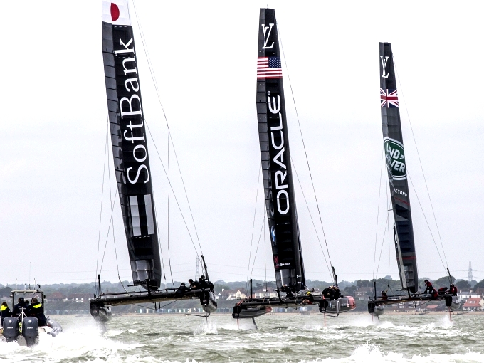 America's Cup teams in Portsmouth