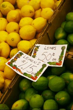 Bermuda prices for limes and lemons October 2008