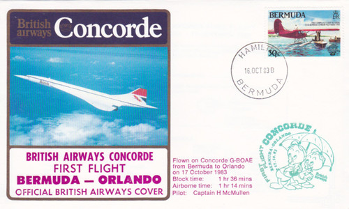 Bermuda Concorde British Airways commemorative stamp