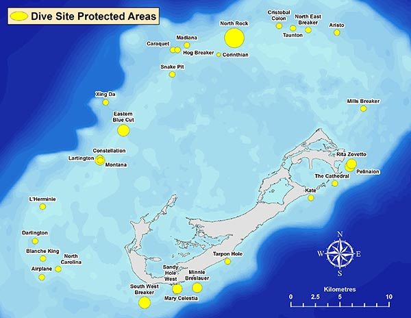 Dive site protected areas