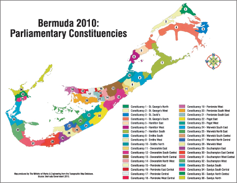 Bermuda Parliamentary Constituencies before 2010