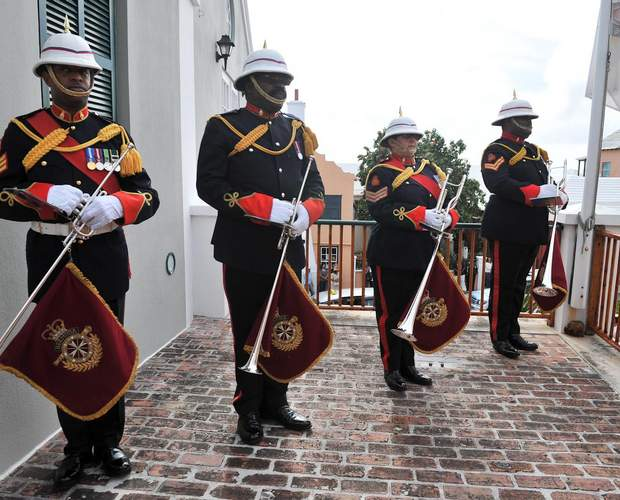 Bermuda Regiment Band members