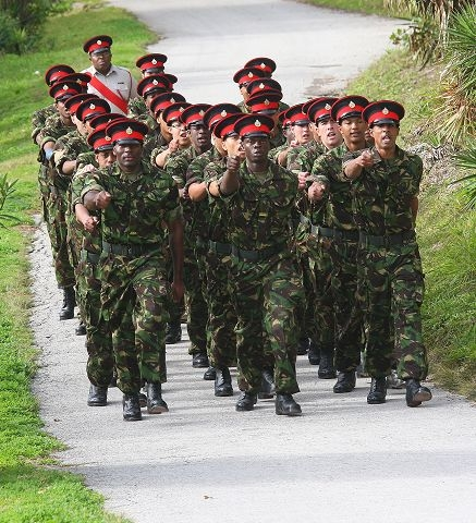 Bermuda Regiment Recruits