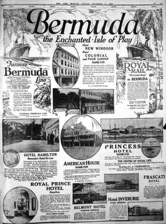 Bermuda advertisement New York Times December 1922