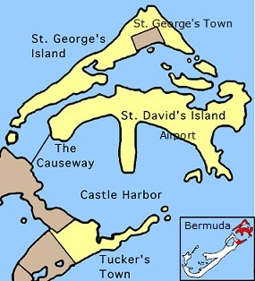 Bermuda airport location