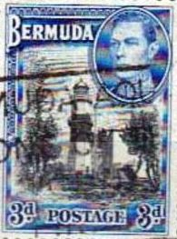 St. David's Lighthouse 1943 stamp