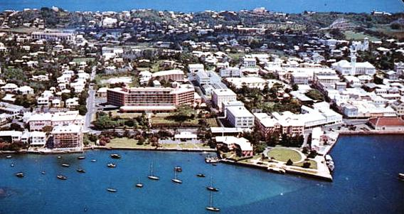 Bermudiana Hotel 1959 from the air
