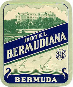 Bermudiana Hotel luggage tag