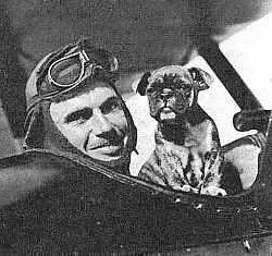 Captain Field E. Kindley with Fokker