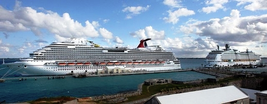 Two cruise ships in Bermuda
