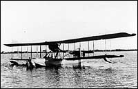 Curtiss HS-2L flying boat representation