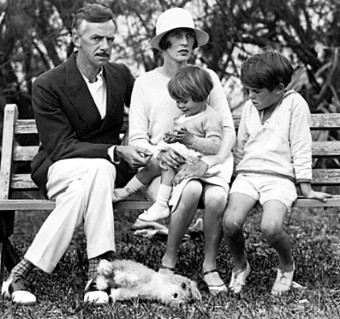 Eugene O'Neill and family at Spithead