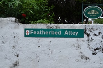 Featherbed Alley street sign