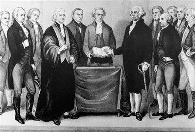 George Washington and his 1789 Cabinet