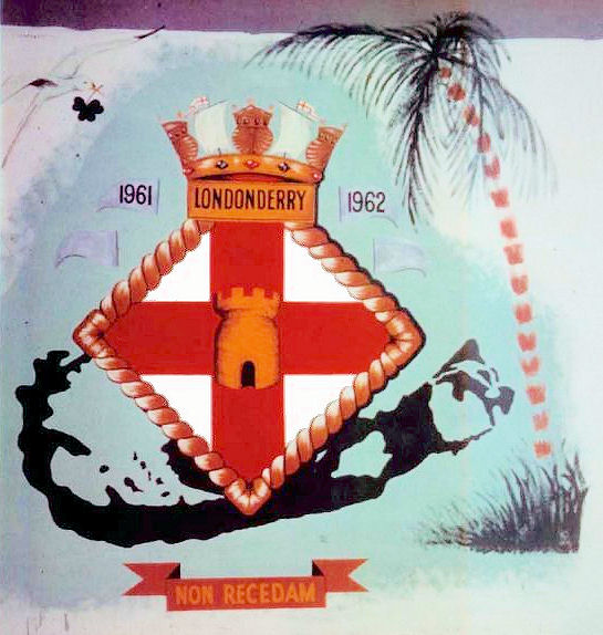 HMS Londonderry ship's crest, Royal Navy Dockyard,  Bermuda