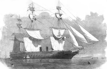 HMS Warrior Bermuda 1869
