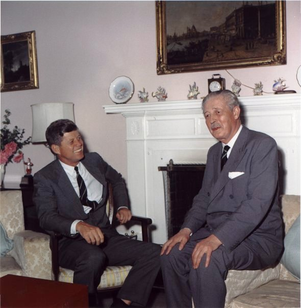 President Kennedy and Macmillan in Bermuda December 1961