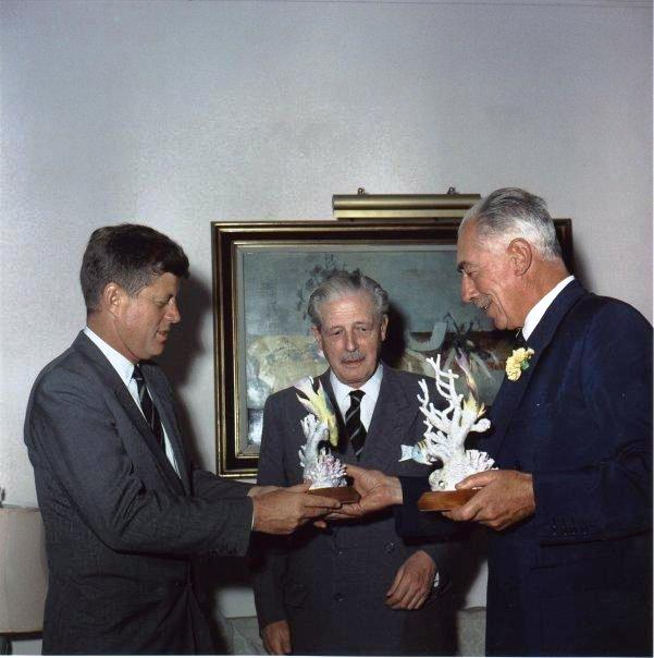 President Kennedy and Macmillan Bermuda December 1961