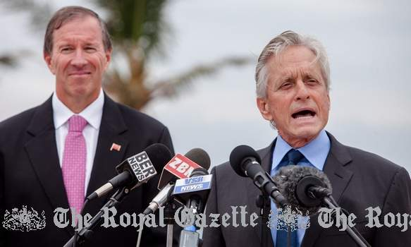 Michael Douglas and Premier, Nov 2014