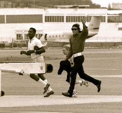 Michael Jackson leaving Bermuda 1991