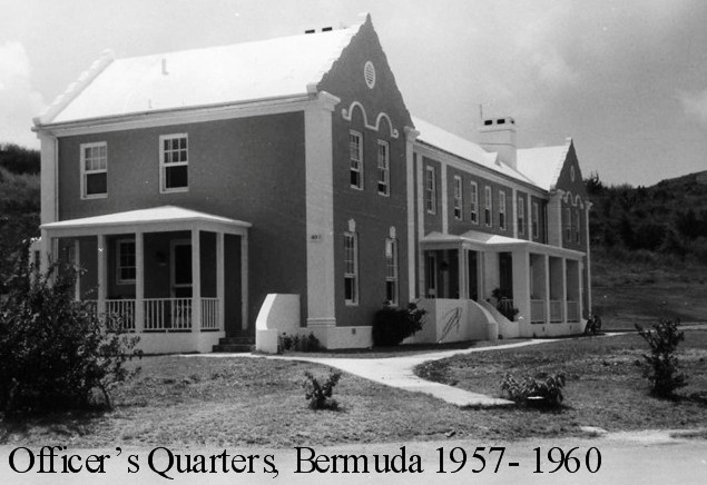 Officers Quarters Bermuda at USNAS 1957-60