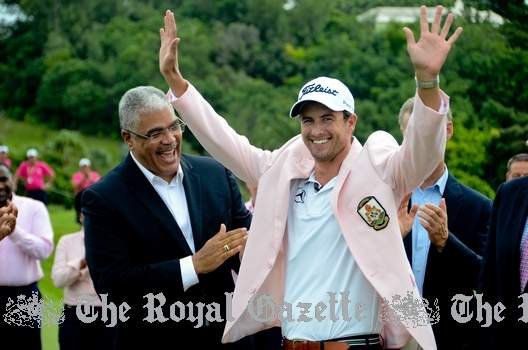 Adam Scott with Premier