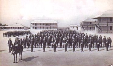 Infantry on parade