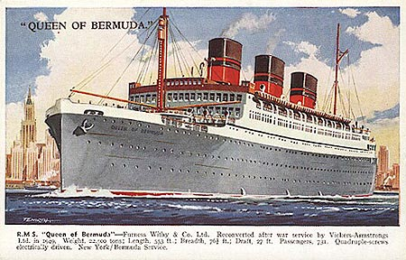 """Queen of Bermuda ""Cruise ship"