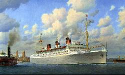 Queen of Bermuda sailing from New York August 1939