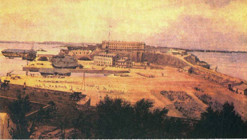 RN Dockyard May 1847 by Captain Sir Michael Seymour